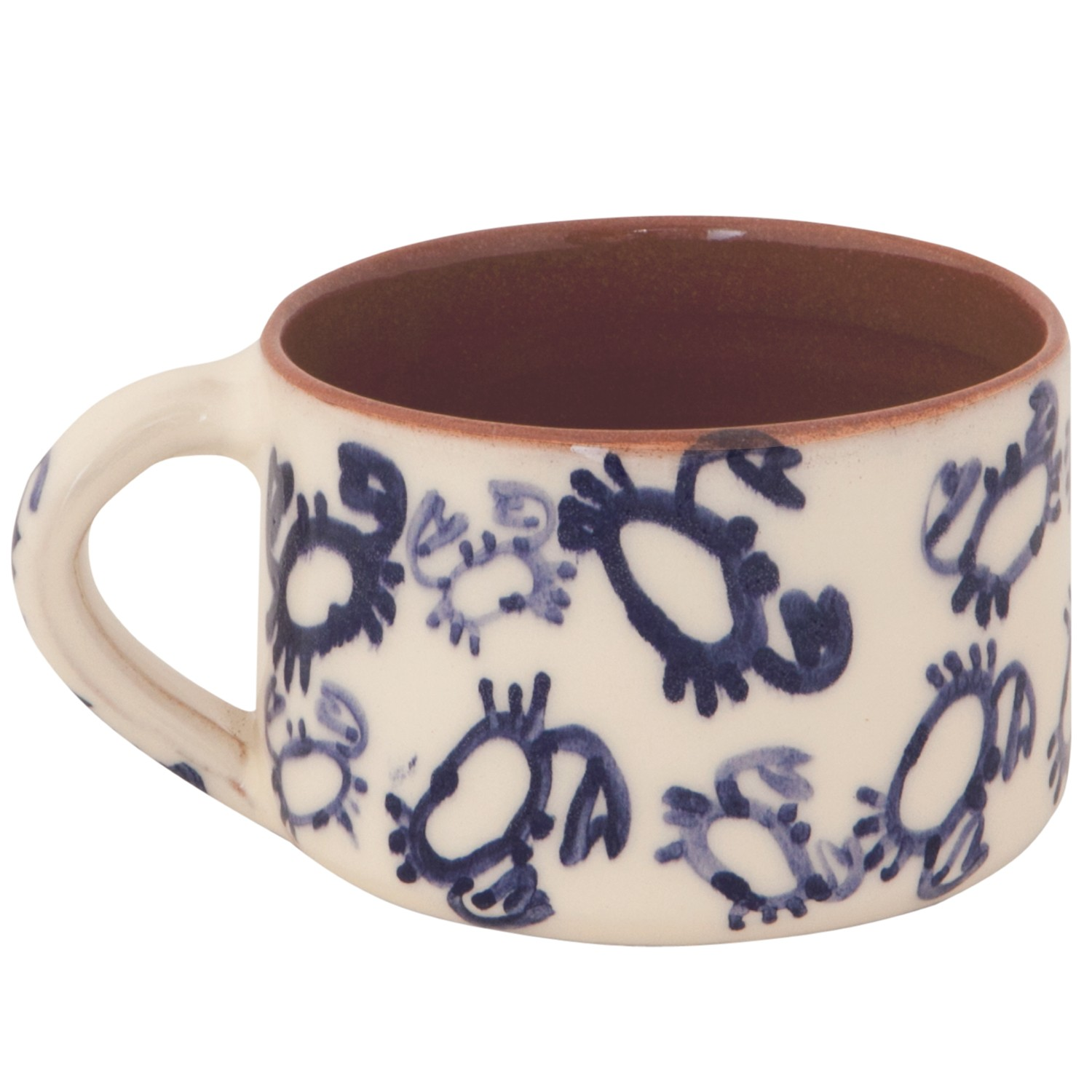 Handmade Ceramic Mugs for Sale - Blue Crab Nautical Theme-1