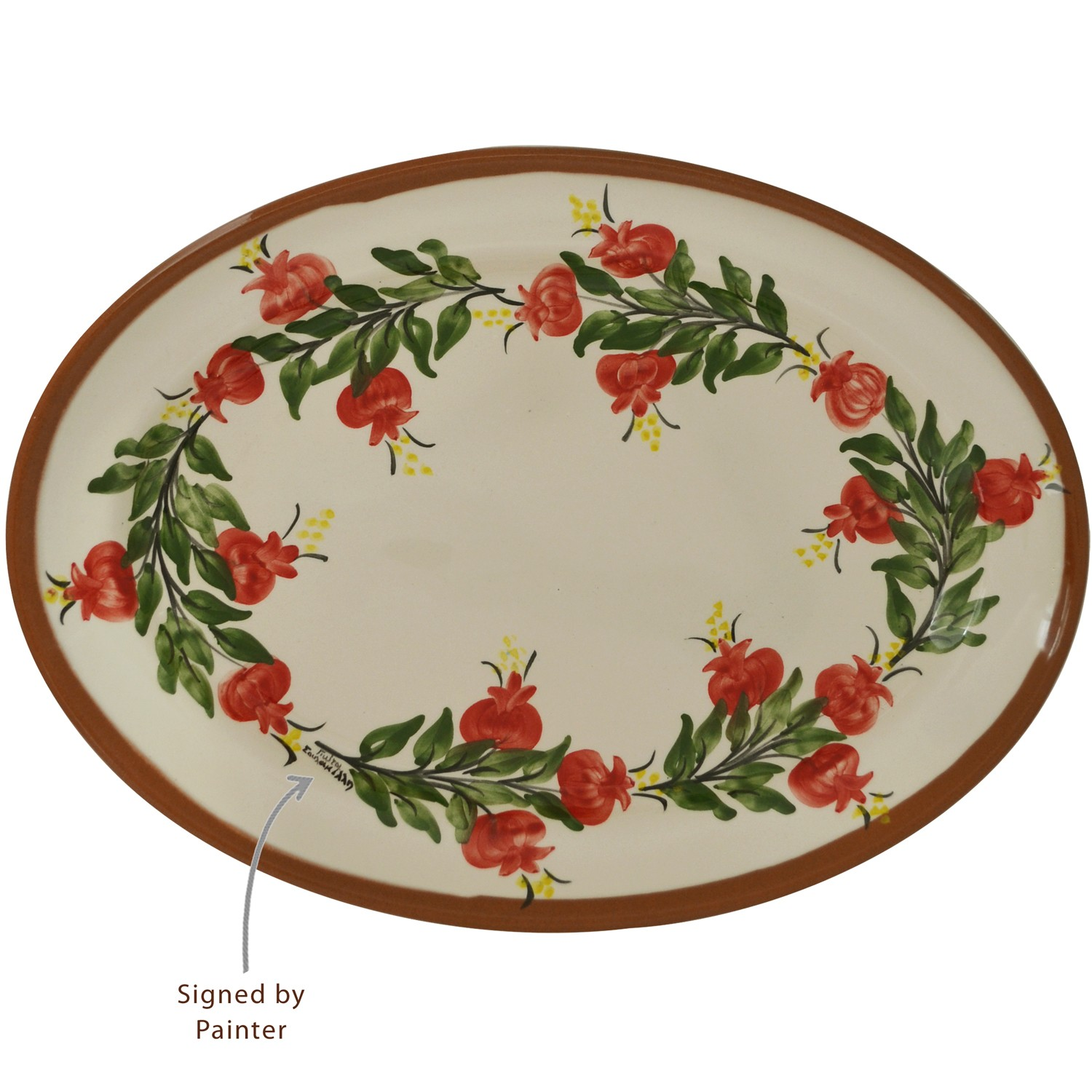 Oval_Ceramic_Platter_Hand-painted_Pomegranate-1