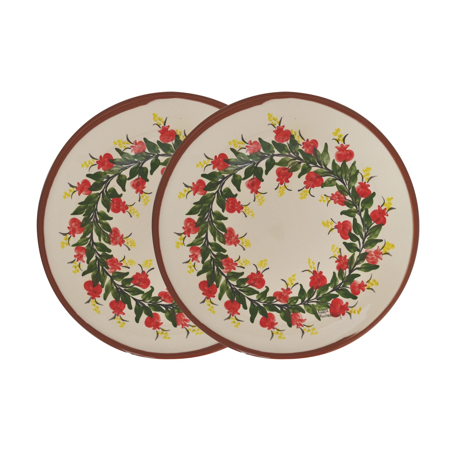 Set_of_two_2_Hand-painted_Pomegranate_Side_Plates-1