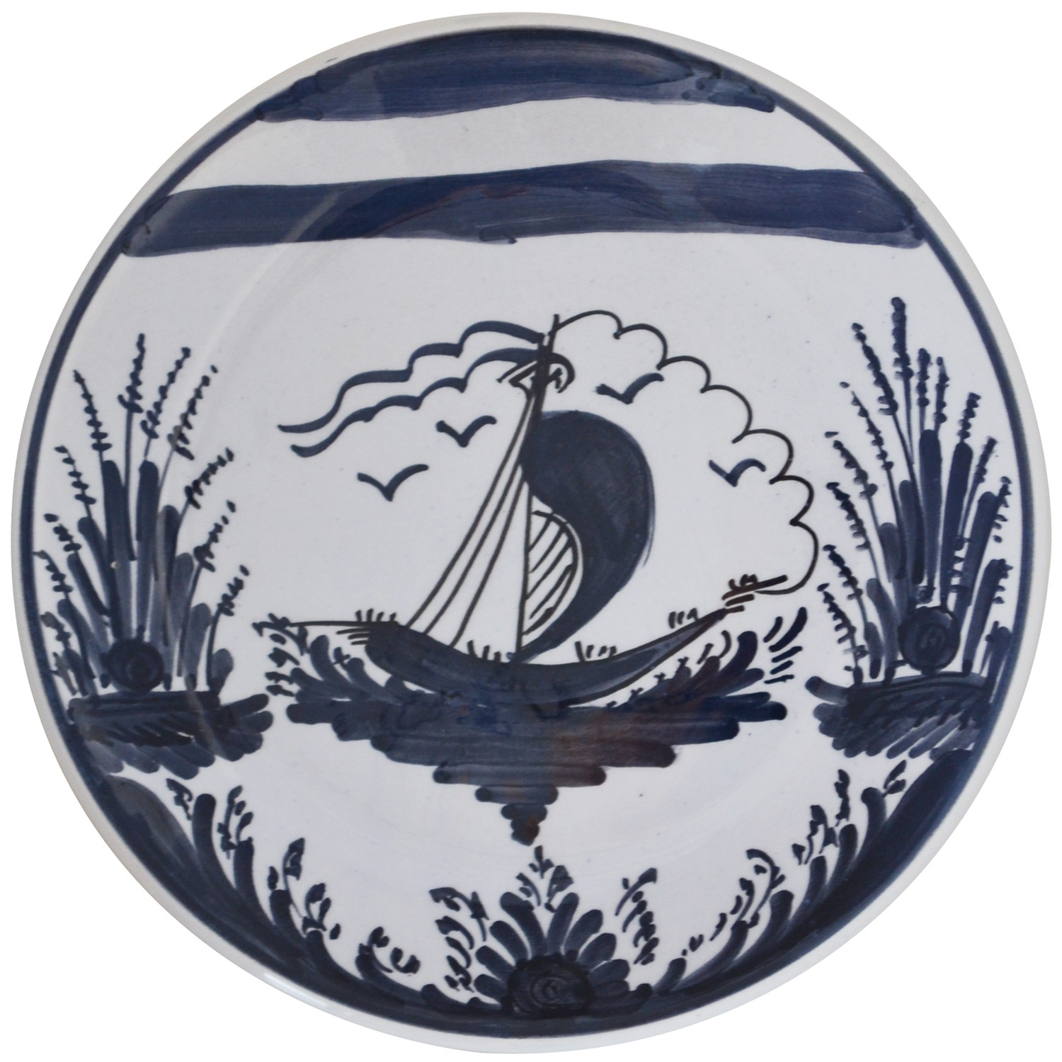 Hand_Painted_Ceramic_Dessert_Decorative_Plates-Sailing_Boat-1