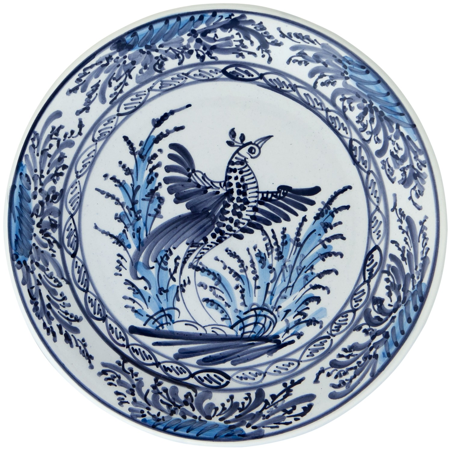 Hand_painted_Ceramic_Decorative_Plates_Blue_and_White-Peacock-1