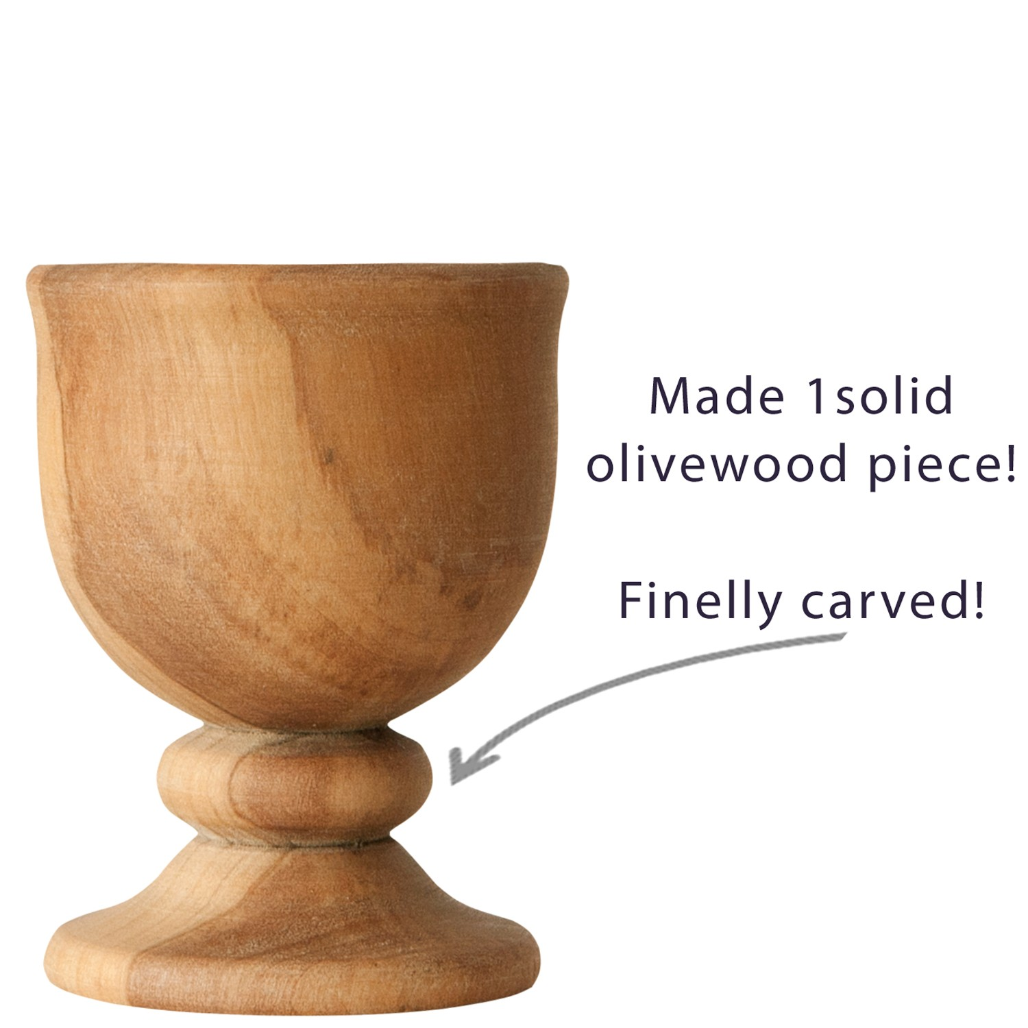 Olivewood Egg Cup-2