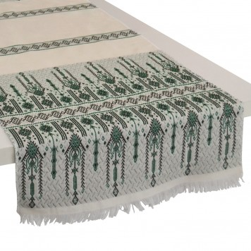 Traditional_Table-Runner_Green_Cotton-Candlestick