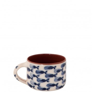 Pottery Mugs for Sale-Nautical Fishes-5