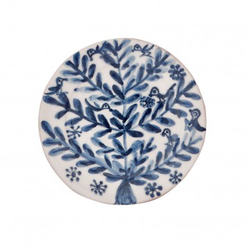Decorative Blue and White plates, Birds and Flowers II-5
