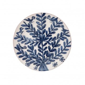 Decorative Blue and White Plates - Birds on Tree-5