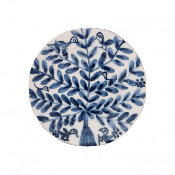 Decorative Blue and white plates - Birds on tree II - 5