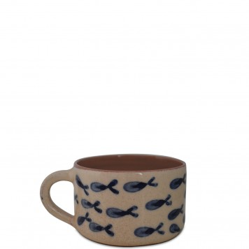 Handmade Ceramic Coffee Mugs for sale - Fishes -3