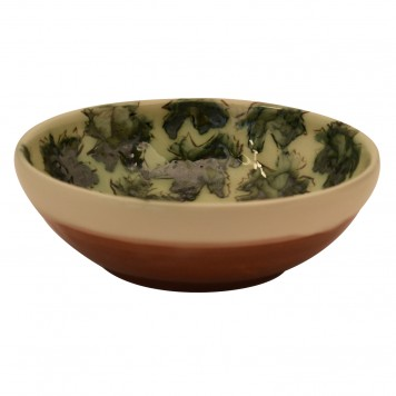 Ceramic Salad Bowl-Leafs-4