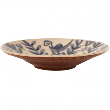 Decorative bowls for tables-Bird on Flower-2