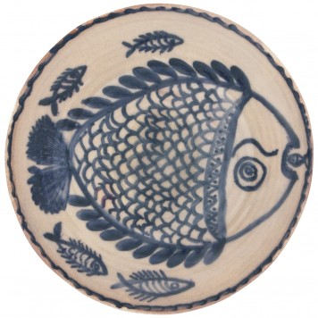 Decorative Bowls for tables-Hand Painted Fishes-1
