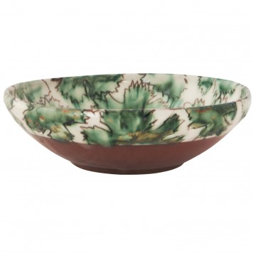 Coffee Table Bowls-Hand painted leafs-3