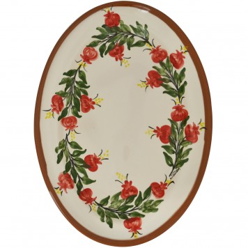 Oval_Ceramic_Platter_Hand-painted_Pomegranate-3