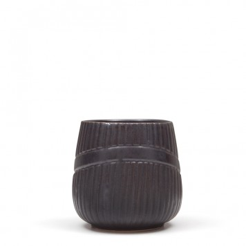Ceramic Cup no Handle Black-6
