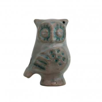 Clay Ocarina Owl Decorative Pottery -C
