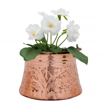 Decorative Bucket, Copper, Embossed-4