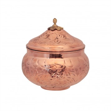 Decorative Copper Bowl with Lid-3