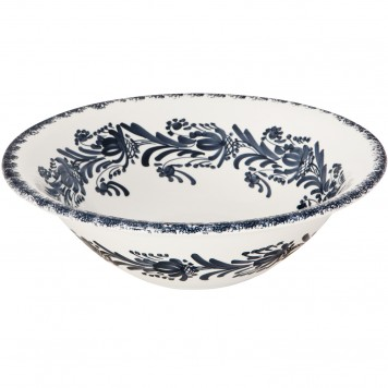 Large decorative bowls for coffee tables | Skyriana Pottery | Flower Wreath-2