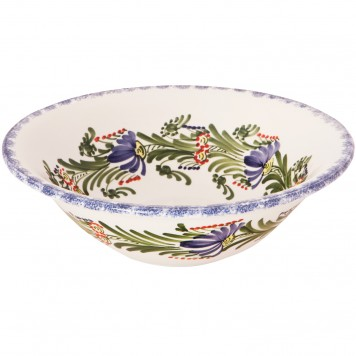 Large Serving Bowls | Colorful Flower Wreath-2