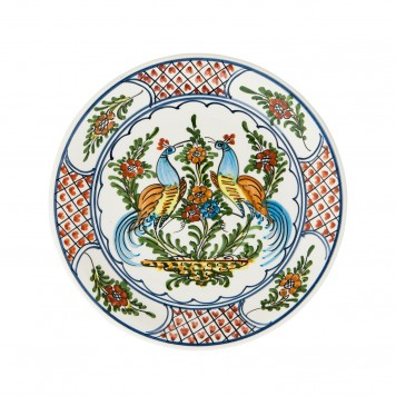Hand_painted-Ceramic-Dinner-Decorative-Plates-Pair-Of-Peacocks-Skyriana_Plates-5