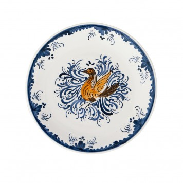 Hand_Painted_Ceramic_Dinner_Decorative_Plates-Eclectic_Bird-Blue-White-4