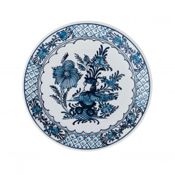 Hand_Painted_Ceramic_Dinner_Decorative_Plates-Garden_Flowers-Blue-White-4