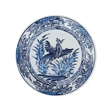 Hand_painted_Ceramic_Decorative_Plates_Blue_and_White-Peacock-4