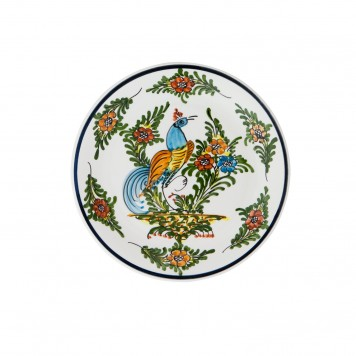 Hand_Painted_Ceramic_Fruit_Decorative_Plate-Peacock-I-4