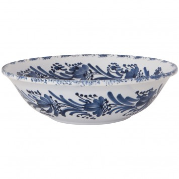 Decorative Bowls for Tables | Blue White Flower Wreath | Skyriana pottery-2