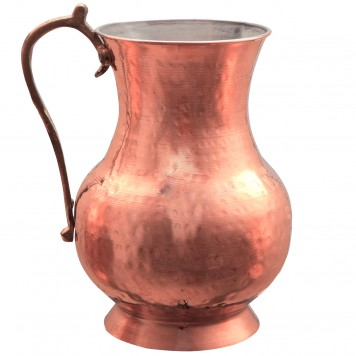 Hammered Copper Decorative Pitcher, 18cm