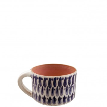 Handmade Ceramic Mugs - Drops -E