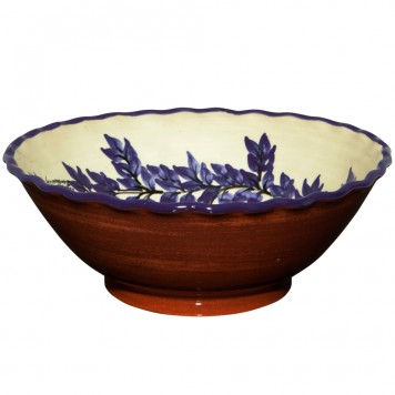 Large Serving Bowl | Lace Ending Flower wreath - 2