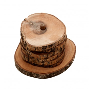 Set of 6 Coasters - Olive Wood-1