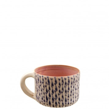 Pottery Mugs Fish Stripes -E