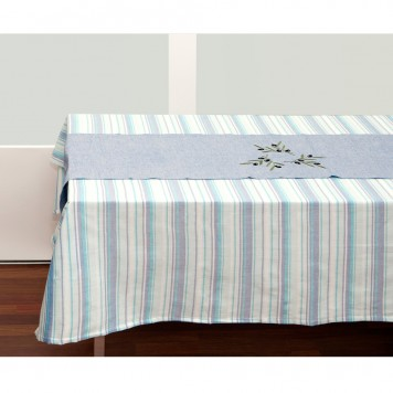 Teal-Tablecloth-and-Table-Runner-1