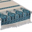 Praesos_Jacquard_Table_Runner_Aegean_Blue
