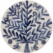 Blue and white plates, Tree with Birds and Bees-1