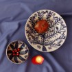Large Decorative Bowls for tables | Hand painted tree birds -4