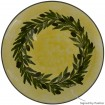 Large pottery bowl-Yellow Ochre bowl-Olive Wreath-2
