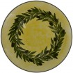 Large pottery bowl-Yellow Ochre bowl-Olive Wreath-1