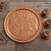 Copper Serving Tray - Large D
