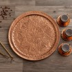 Copper Tray Hand Engraved D