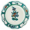 Hand_Painted_Ceramic_Fruit_Decorative_Plate-Flower_I_Cyan-1