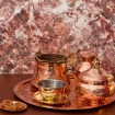 Decorative Copper Bowl with Lid-5