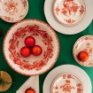 Large pottery bowls | Hand Painted Pottery | Skyriana Flower Wreath Terracotta-6