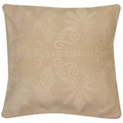 Birds Jacquard Cotton Cushion Cover, Ecru