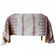 Candlestick Jacquard Tablecloth, Red