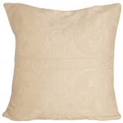 Greek Pattern Jacquard Cushion Cover, Ecru