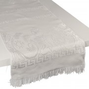 Eagle Jacquard Table Runner, Ivory (S)
