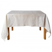 Eagle Jacquard Tablecloth, Ecru, 150x220cm